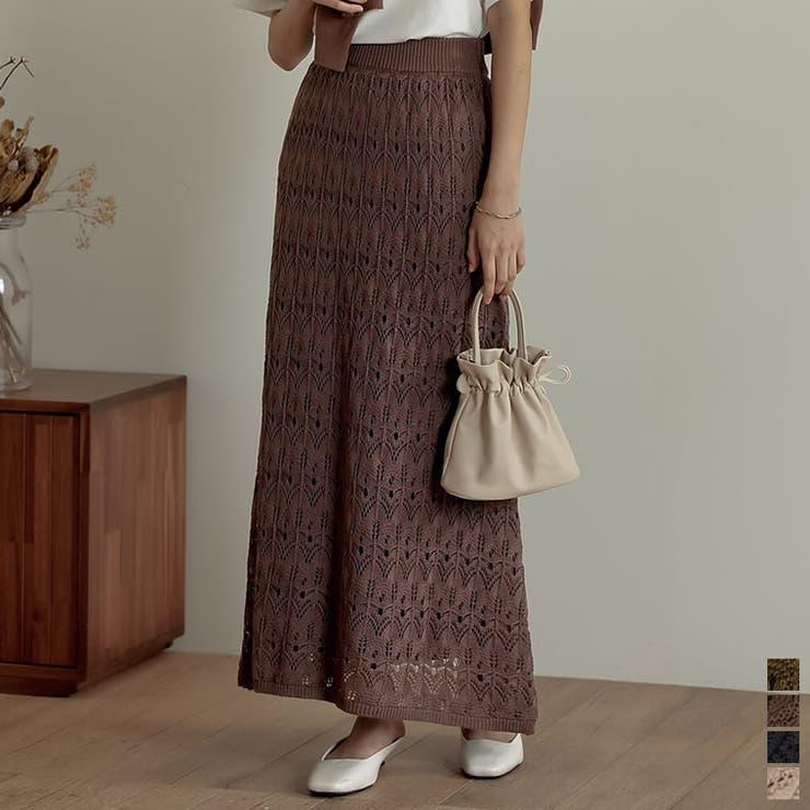 落ち感のあるやわらかさが魅力のナロースカート   Re:EDIT   詳細画像1
