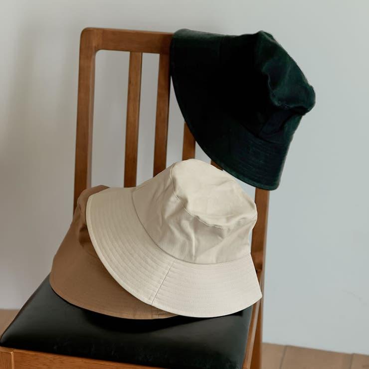 シンプルデザインで様々なコーディネートにマッチ コットンバケットハット 帽子 | Re:EDIT | 詳細画像1