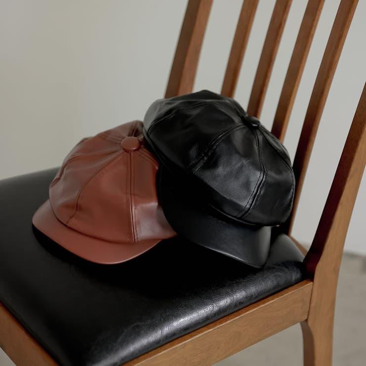 シーズンムードがぐっと高まるキャスケット ヴィーガンレザーキャスケット 帽子   Re:EDIT   詳細画像1
