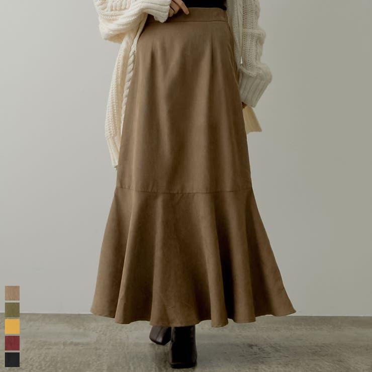 コーデの主役になってくれるカラースカート ピーチスキンマーメイドスカート スカート | Re:EDIT | 詳細画像1