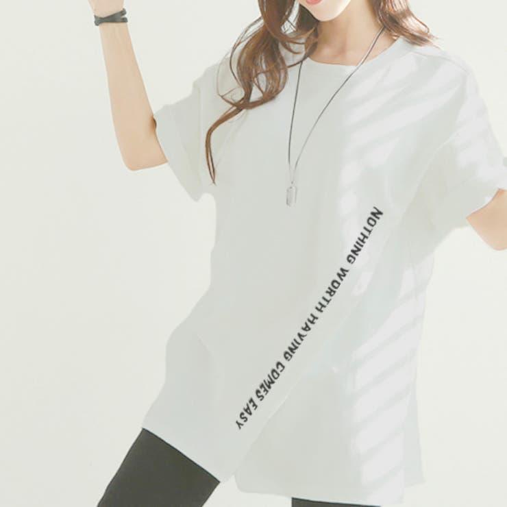 英字ロゴがかわいいフロントスリットTシャツ♪ | sun eight | 詳細画像1