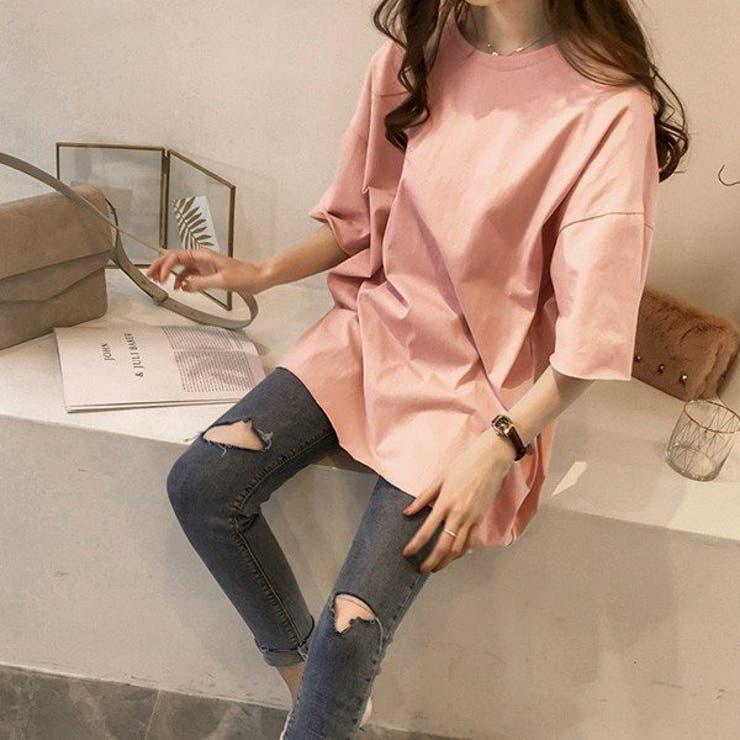 ゆったりシルエットが女性らしさを際立たせてくれるビックTシャツ♪ | sun eight | 詳細画像1