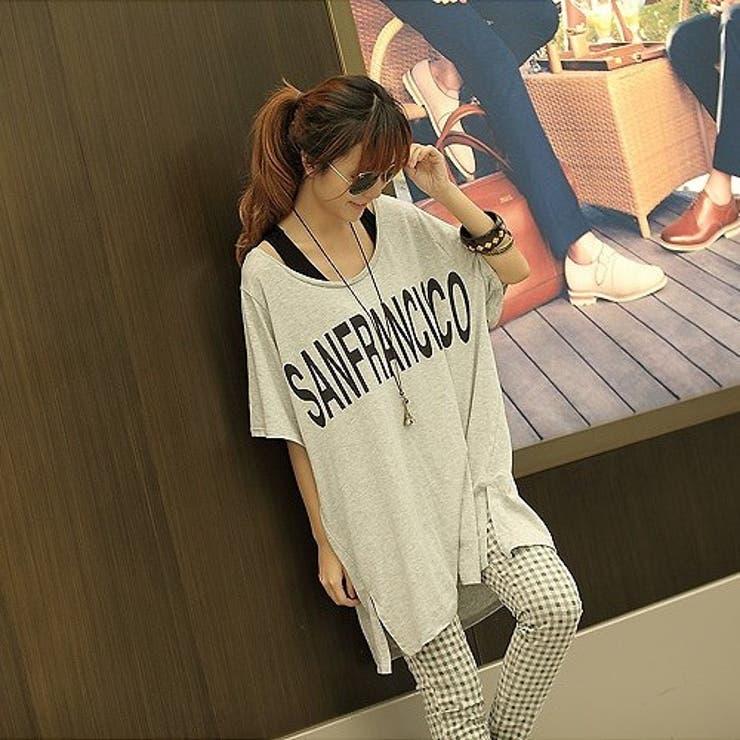 ゆるシルエットプリントTシャツ♪   sun eight   詳細画像1