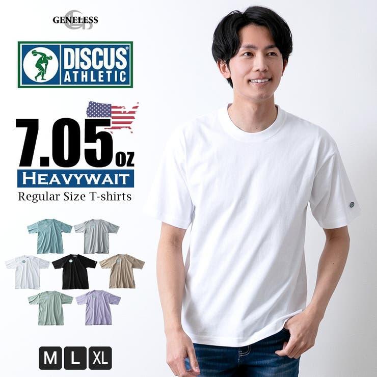 Tシャツメンズ半袖7.05オンス厚め半袖TシャツDISCUSUSAコットン綿全7色0273-4550   詳細画像