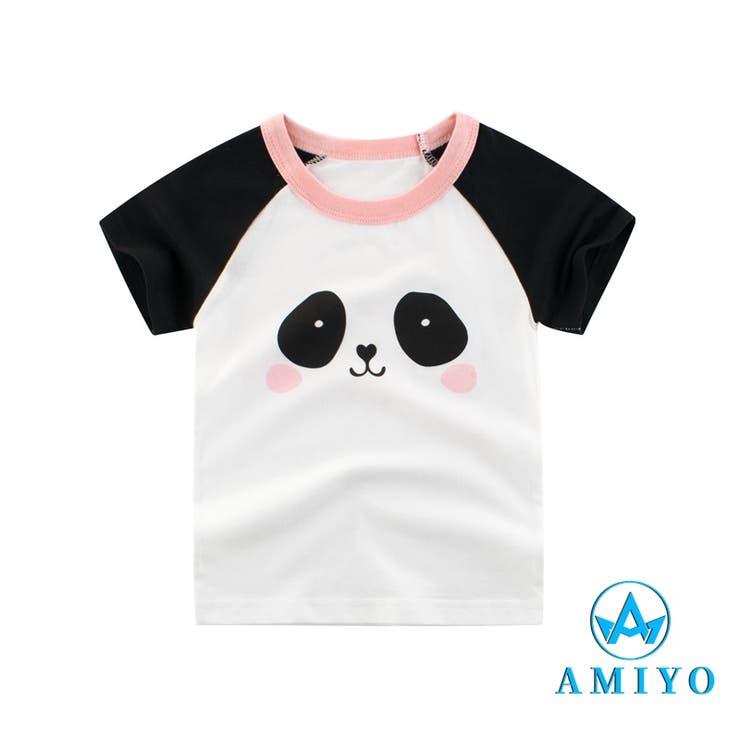 パンダプリント Tシャツ 8112 | Amiyo | 詳細画像1