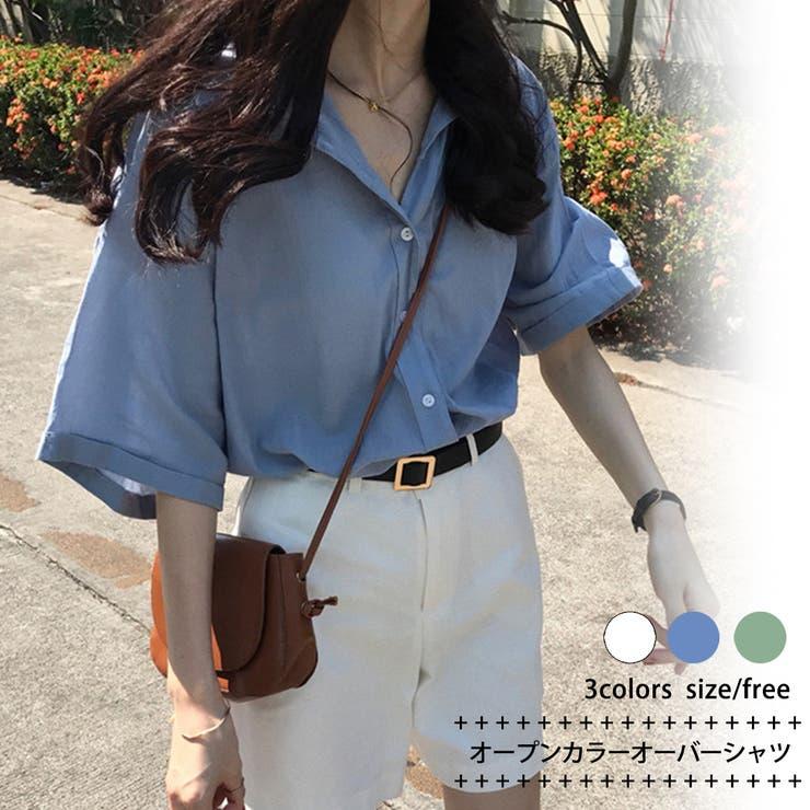 オープンカラー オーバーシャツ 8277 | G&L Style | 詳細画像1