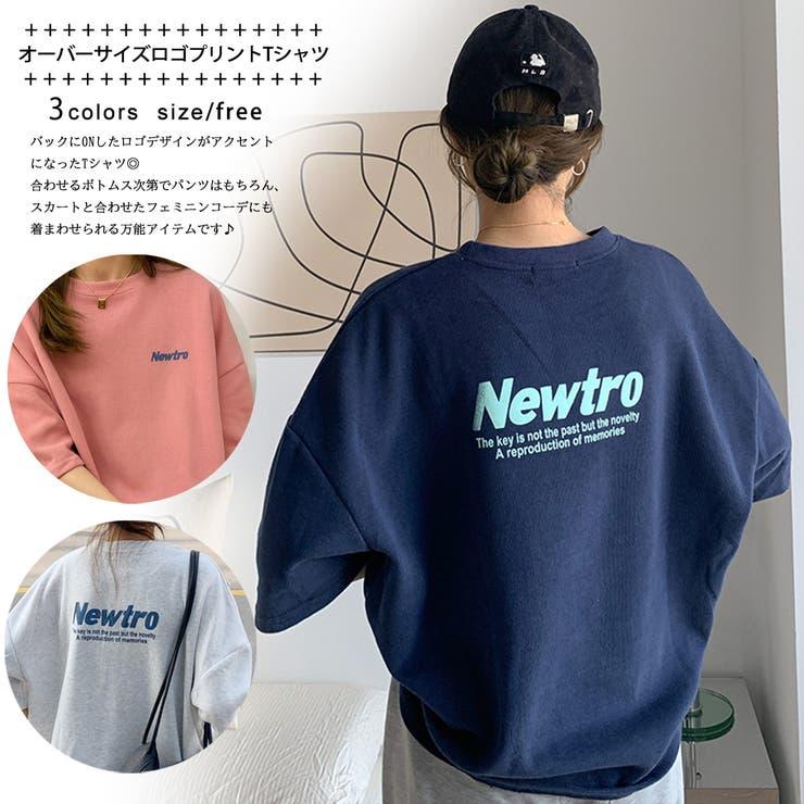 オーバーサイズ ロゴプリントTシャツ 8368   G&L Style   詳細画像1