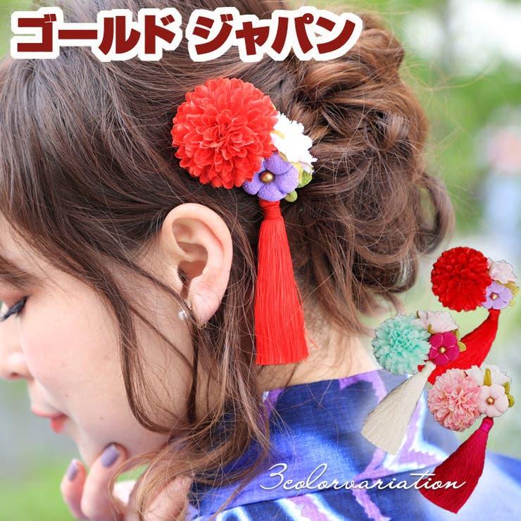 花&タッセル髪飾り | 詳細画像