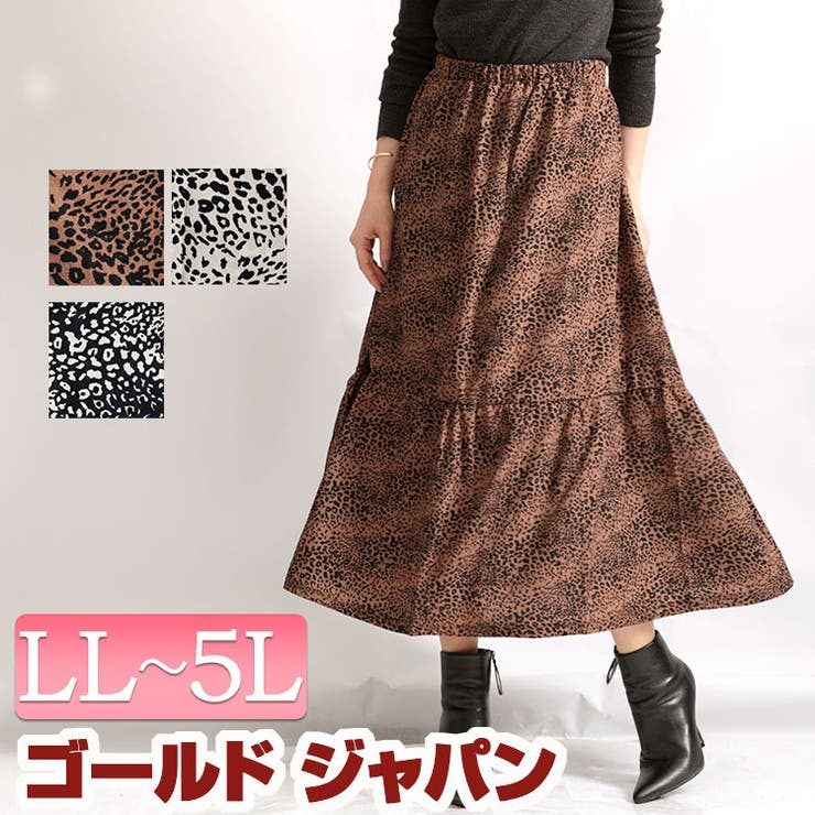 レオパード柄シフォンスカート | 詳細画像