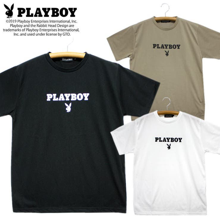 PLAYBOY天竺クルーネック半袖Tシャツ | 詳細画像