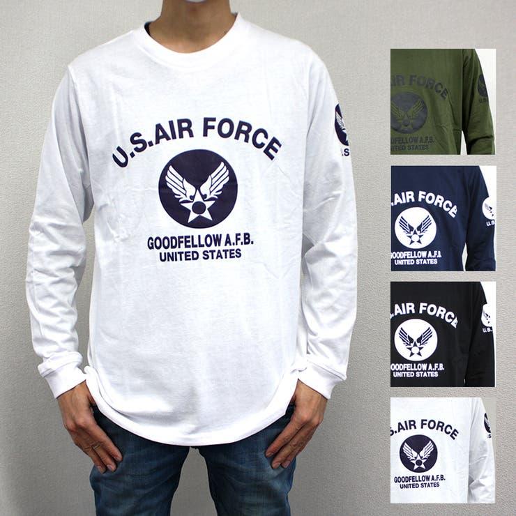 US.AIR.FORCEミリタリーロングスリーブTシャツ | 詳細画像