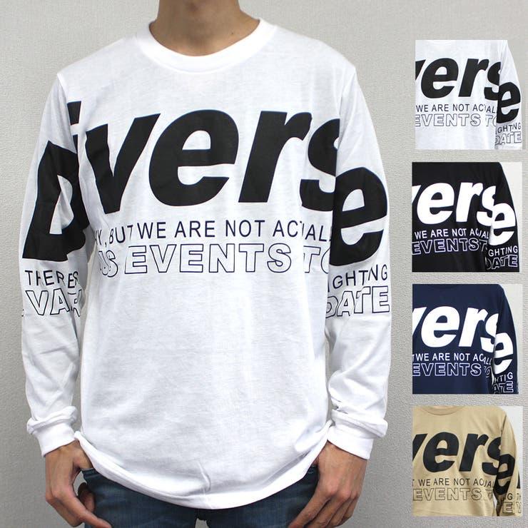 DiverseデカロゴストリートロングスリーブTシャツ | 詳細画像