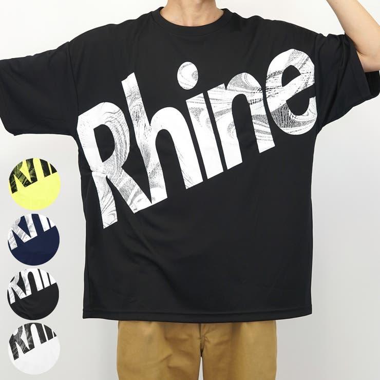 ビックシルエットバックプリントデカロゴ半袖TシャツRhine | 詳細画像