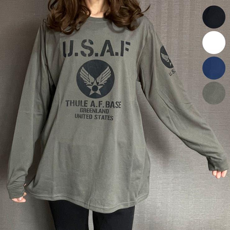 U.S.AIR.FORCEロングスリーブTシャツ | GROOVY STORE | 詳細画像1