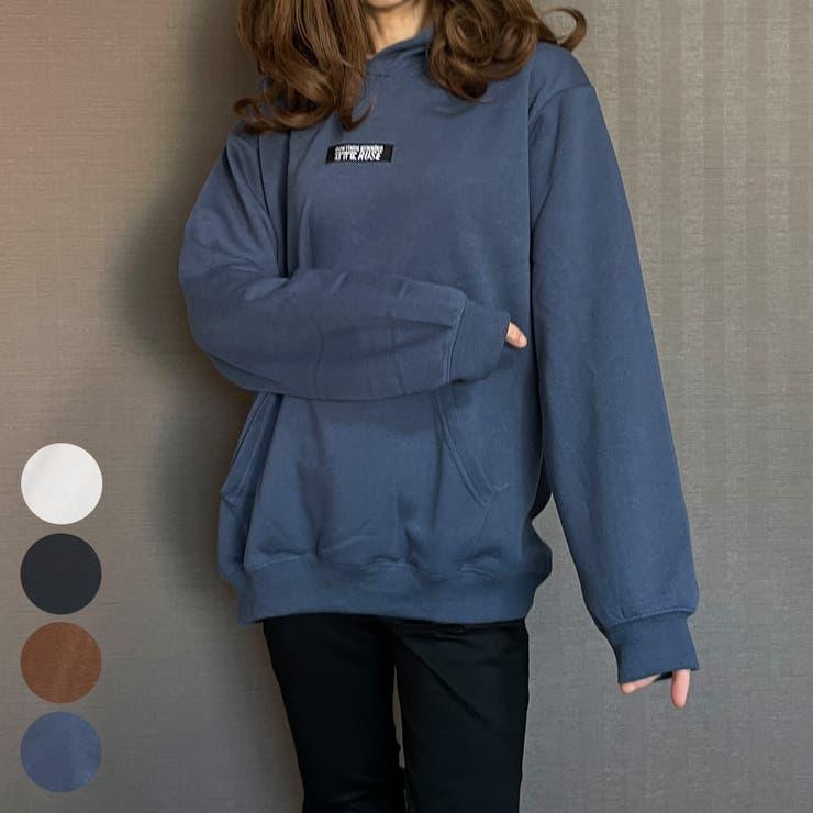 オーバーサイズ裏起毛刺繍パーカーRUSE | GROOVY STORE | 詳細画像1