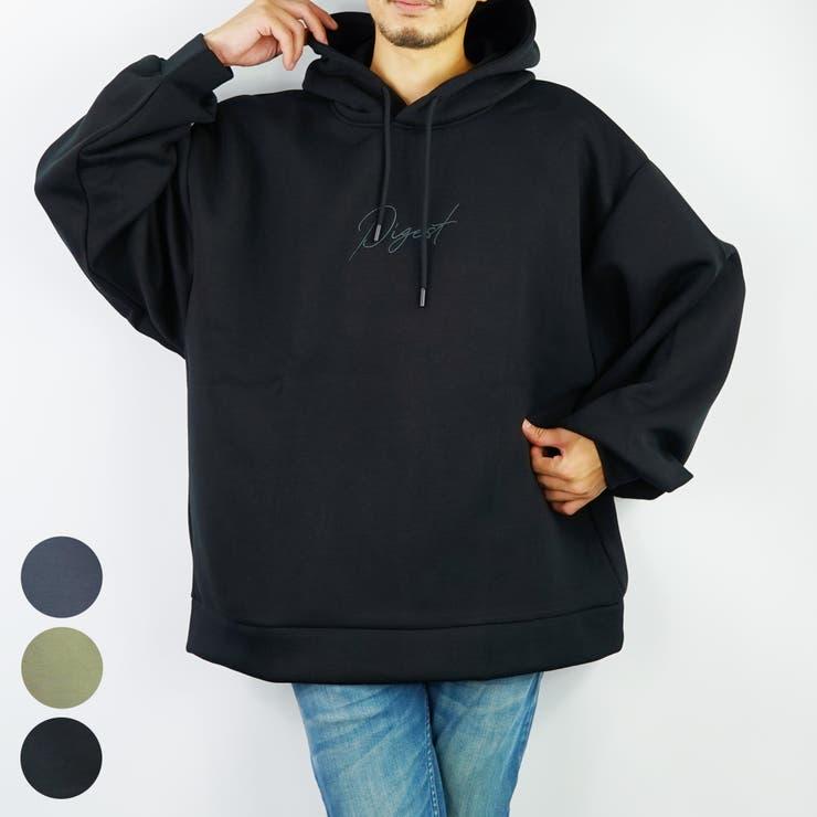 ビックシルエット刺繍ロゴバルーン袖プルパーカーTRPU   GROOVY STORE   詳細画像1