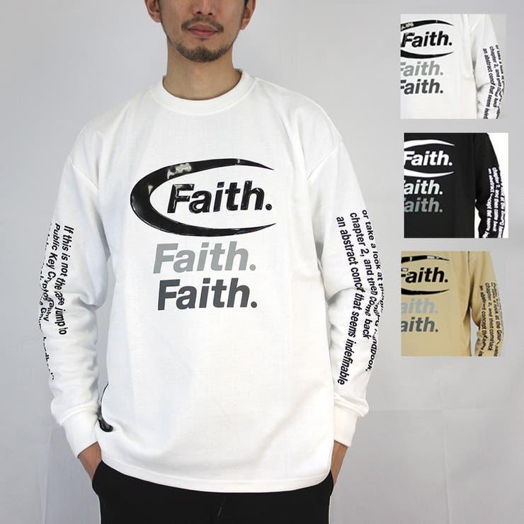 ワイドシルエットFAITHロゴロングスリーブTシャツ | 詳細画像