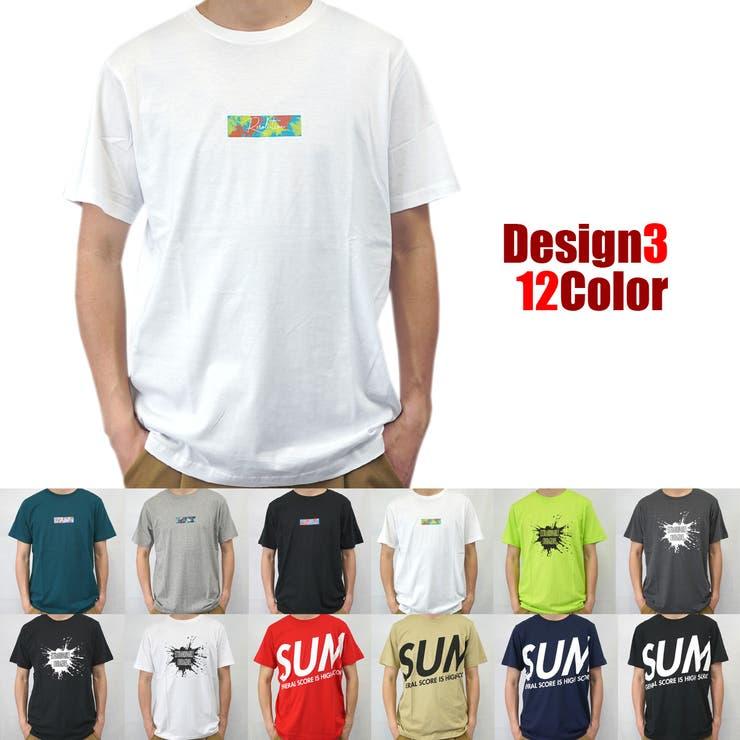 ビックシルエットビックロゴボックスロゴストリート系選べる12色半袖Tシャツ | 詳細画像
