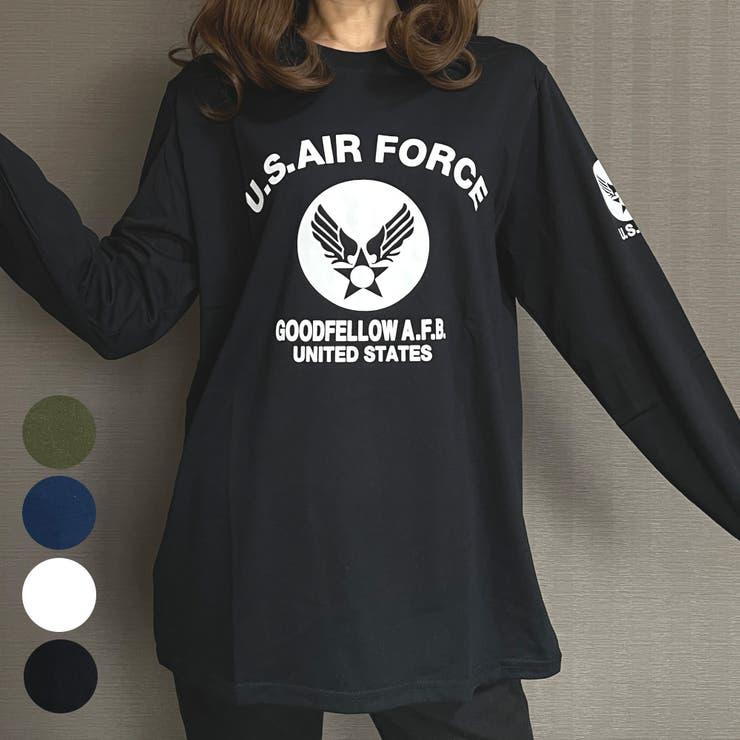 ゆるシルエットUS.AIR.FORCEミリタリーロングスリーブTシャツ | GROOVY STORE | 詳細画像1