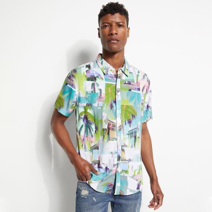 [GUESS] Eco Rogan Montage S/S Shirt   GUESS【MEN】   詳細画像1