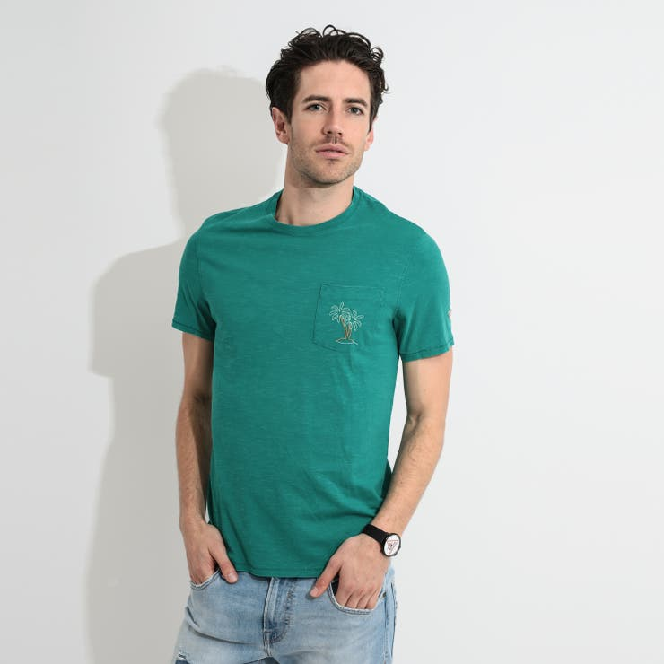 [GUESS] Pocket Embroidery Tee | GUESS【MEN】 | 詳細画像1