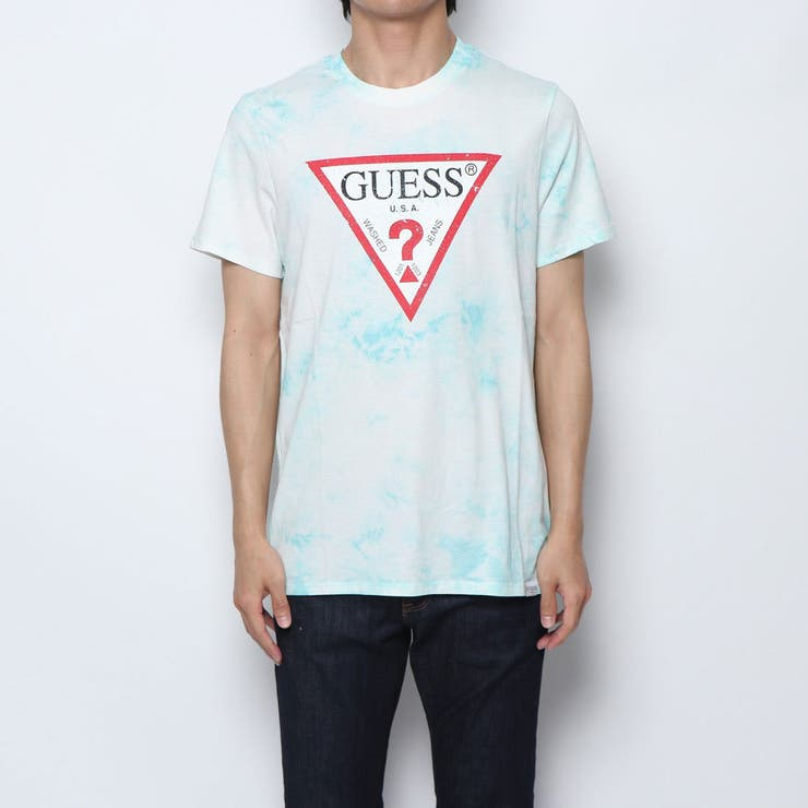 [GUESS] DISTRESSED TRIANGLE LOGO TEE   GUESS【MEN】   詳細画像1