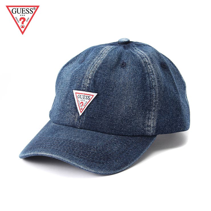 [GUESS] DENIM 6 PANEL CAP
