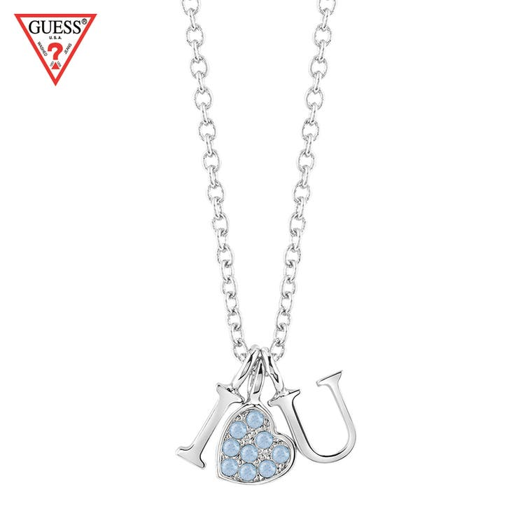 [GUESS] I LOVE U CHARM NECKLACE SILVER