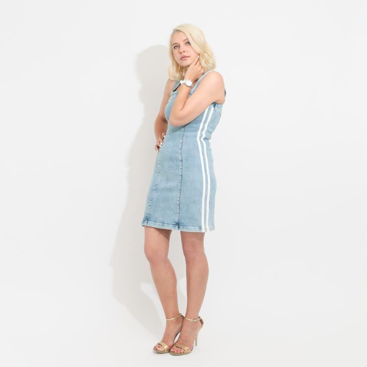 [GUESS] Tamara Bands Denim Dress | GUESS【WOMEN】 | 詳細画像1
