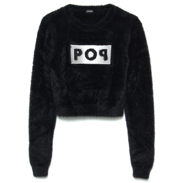 [GUESS] Sally Round-Neck Crop Sweater   GUESS【WOMEN】   詳細画像1