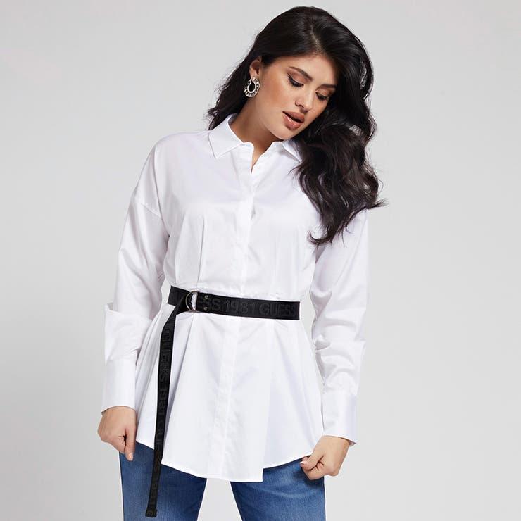[GUESS] Rhianna Popeline Belted Shirt | GUESS【WOMEN】 | 詳細画像1