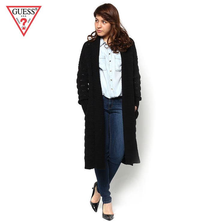 [GUESS] L/S FLORENCE SHAWL COLLAR COVERUP CARDIGAN