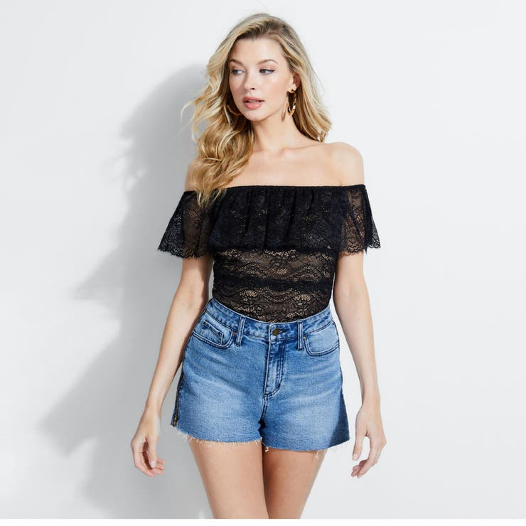 [GUESS] MARABELL LACE OFF-SHOULDER TOP   GUESS【WOMEN】   詳細画像1