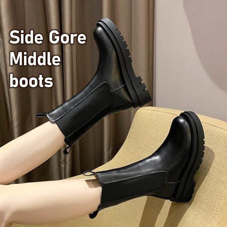 ブーツ サイドゴア ショートブーツ   HANAHANA   詳細画像1