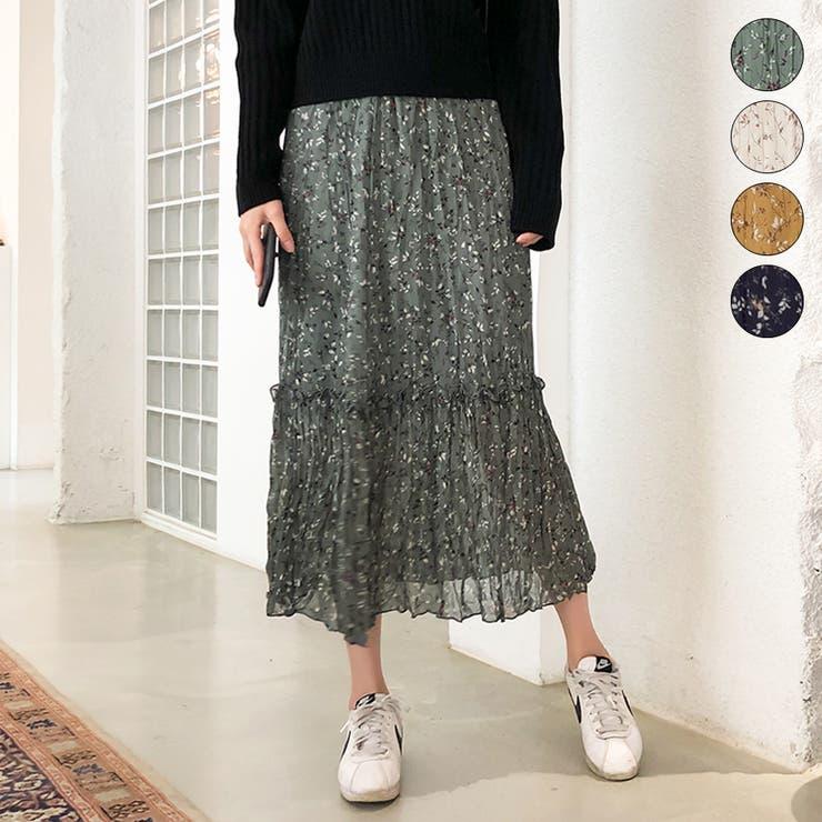 ウエストゴム花柄スカート スカート ロング丈 | Happy Shop | 詳細画像1