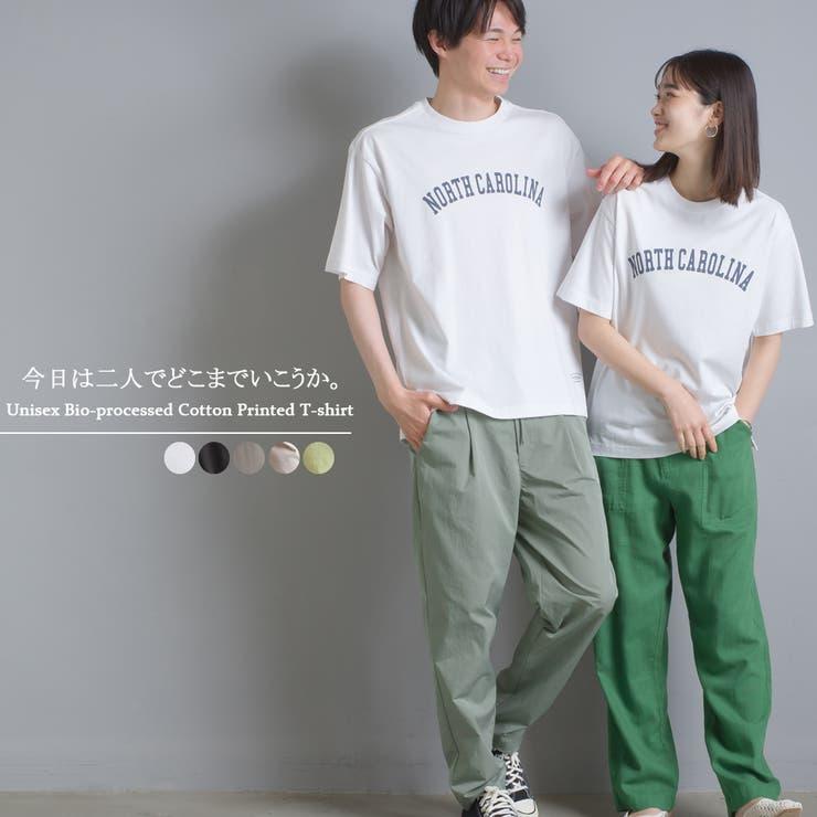 【OMNES】ユニセックス バイオ加工 綿100%プリント半袖Tシャツ | haptic | 詳細画像1