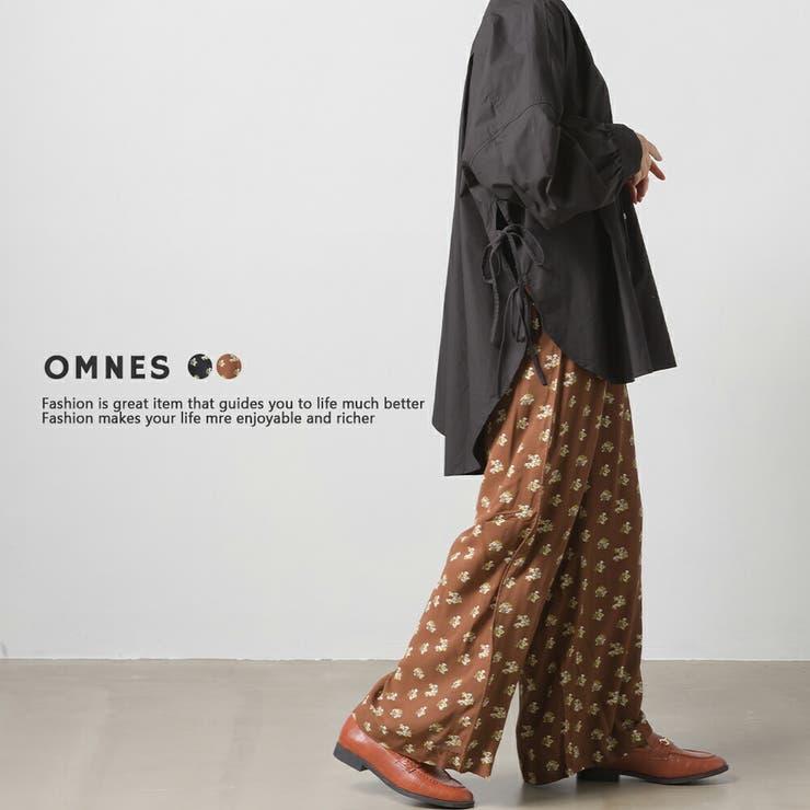 【OMNES】シフォンフラワー プリントイージーパンツ | haptic | 詳細画像1
