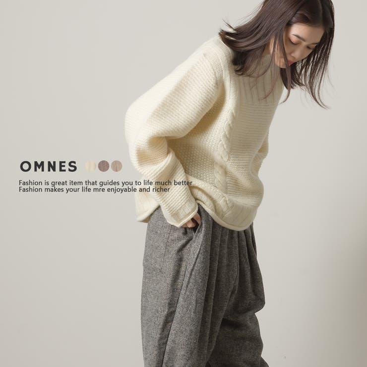 【OMNES】ウール100% ミックス柄プルオーバーニット | haptic | 詳細画像1