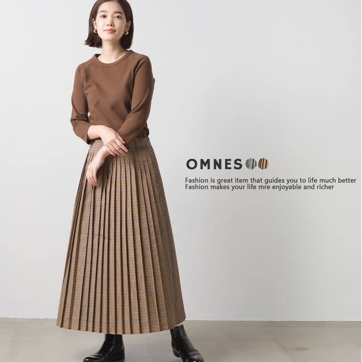 【OMNES】ガンクラブチェック プリーツスカート   haptic   詳細画像1