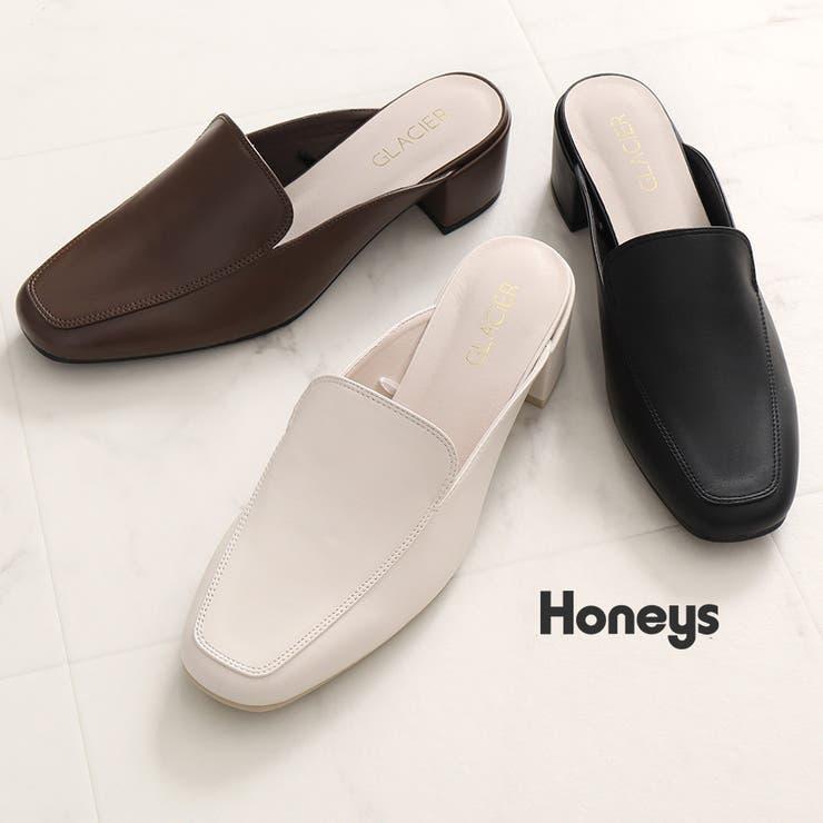 【ハニーズ】スクエアトゥミュール   Honeys   詳細画像1