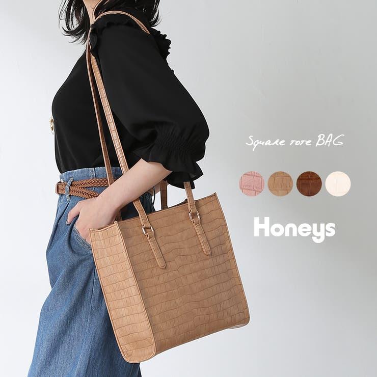 バッグ トートバック スクエアバック | Honeys | 詳細画像1