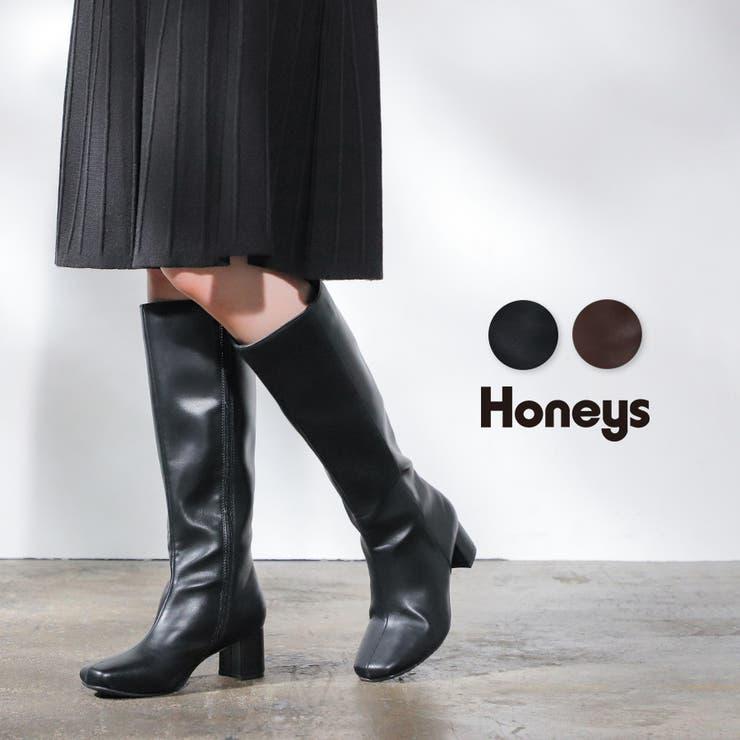 靴 ブーツ ロングブーツ   Honeys   詳細画像1