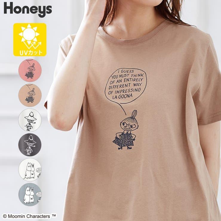トップス チュニック 半袖   Honeys   詳細画像1