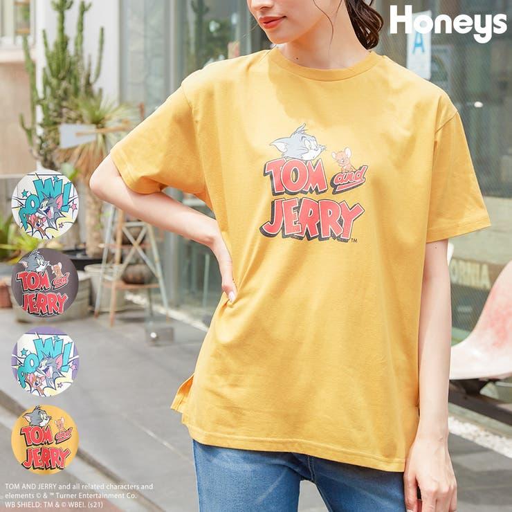 トップス Tシャツ半袖 イラストプリント | Honeys | 詳細画像1