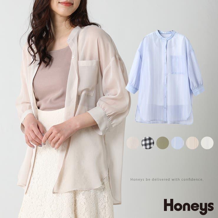 トップス シャツ 7分袖   Honeys   詳細画像1