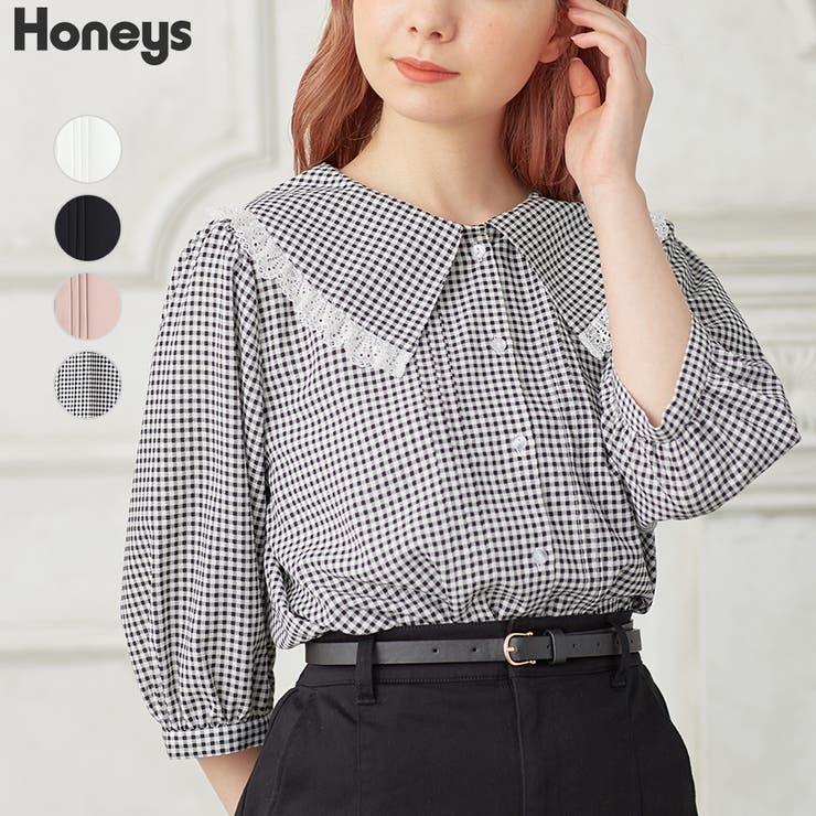 トップス ブラウス 6分袖 | Honeys | 詳細画像1