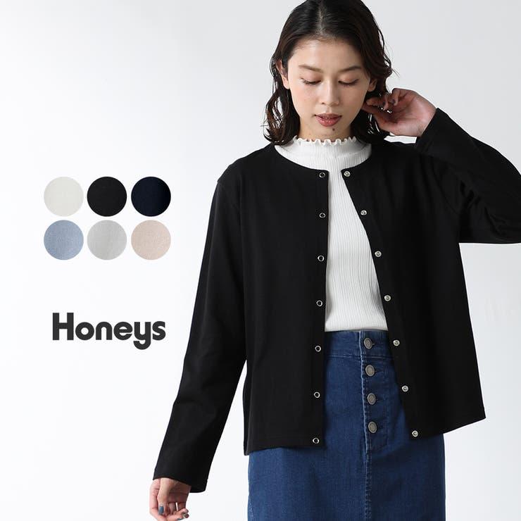 トップス カーディガン 綿   Honeys   詳細画像1