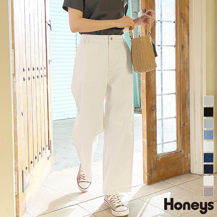 パンツ ストレートパンツ コットン   Honeys   詳細画像1