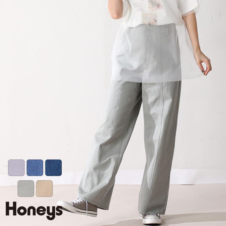 パンツ ストレートパンツ カラーデニム   Honeys   詳細画像1
