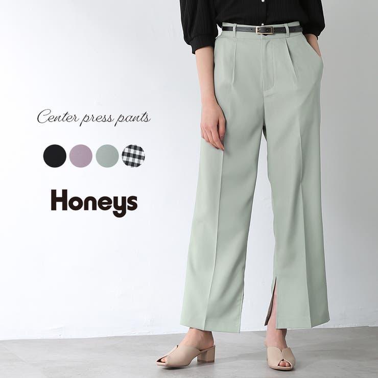 パンツ ストレートパンツ ハイウエスト | Honeys | 詳細画像1